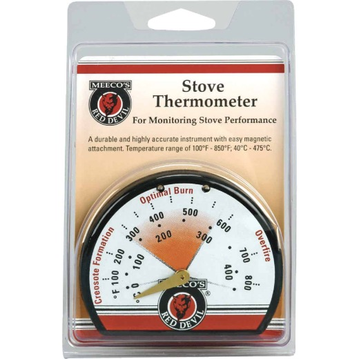 Meeco's Red Devil Porcelain Steel Stove Thermometer